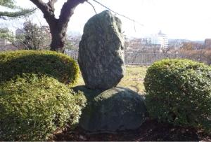 櫻山大明神本殿跡の碑 (大正9年5月建立)