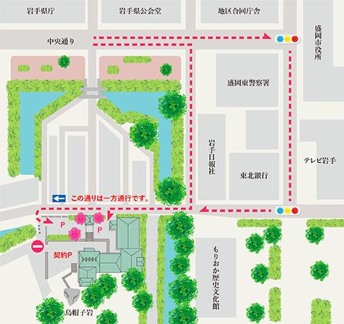道のりの地図(広域)