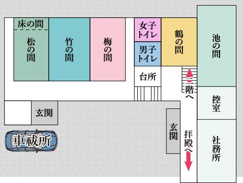 館内案内図(1階)